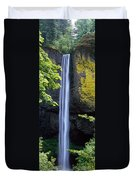 Waterfall In A Forest, Latourell Falls Duvet Cover