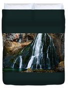 Waterfall In Austria Panorama Duvet Cover