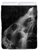 Waterfall In Black And White Duvet Cover by Bill Gallagher