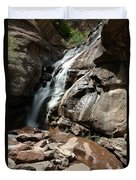 Waterfall In Colorado Duvet Cover