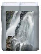 Waterfall In Spring Duvet Cover