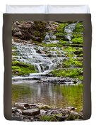 Waterfall In The Forest In Autumn Season  Duvet Cover
