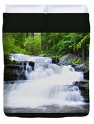 Waterfall In The Pocono Mountains Duvet Cover