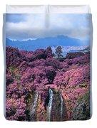 Waterfall Kauai Hawaii  Duvet Cover