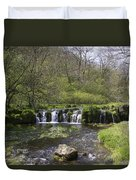 Waterfall Lathkill Dale Derbyshire Duvet Cover