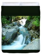 Waterfall Near Paradise Duvet Cover