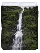Waterfall Near Valdez Ak Duvet Cover