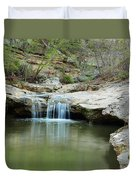 Waterfall On Piney Creek Duvet Cover