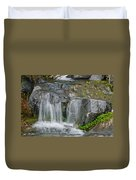 Waterfall On The Paradise River Duvet Cover