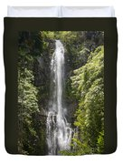 Waterfall On The Road To Hana Duvet Cover