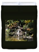 Waterfall On The Rocks Duvet Cover