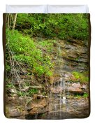 Waterfall On The Way To Thurmond Duvet Cover
