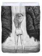 Waterfall Pin Up Girl Duvet Cover