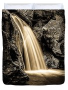 Waterfall Stowe Vermont Sepia Tone Duvet Cover