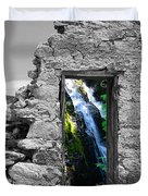 Waterfall Through The Magic Door Duvet Cover