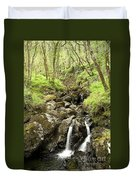 Waterfall Through Woodland Duvet Cover