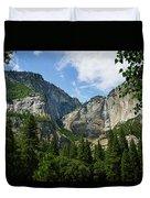 Waterfall, Yosemite Valley, Yosemite Duvet Cover
