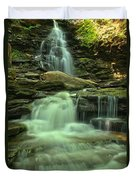 Waterfalling Through Ricketts Glen Duvet Cover