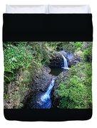 Waterfalls And Pools Maui Hawaii Duvet Cover