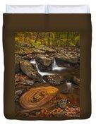 Waterfalls And Swirl Duvet Cover