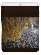 Waterfalls At Hug Point Duvet Cover