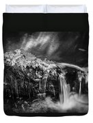 Waterfalls Childs National Park Painted Bw   Duvet Cover