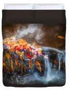 Waterfalls Childs National Park Painted  Duvet Cover