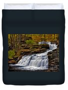 Waterfalls In The Fall Duvet Cover by Susan Candelario