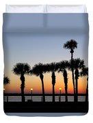 Waterfront After Dark Duvet Cover