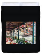 Waterfront Cafe Duvet Cover