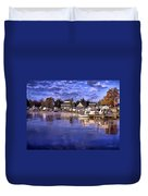 Waterfront Morning Duvet Cover