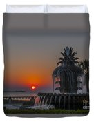 Waterfront Park Sunrise Duvet Cover