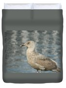Waterfront Seagull  Duvet Cover
