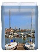 Waterfront View Hoboken Duvet Cover