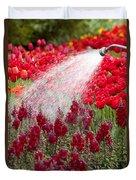 Watering The Garden Duvet Cover
