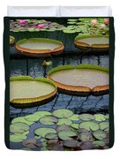 Waterlilies And Platters 2 Duvet Cover by Byron Varvarigos