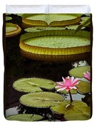 Waterlilies And Platters Vertical Romance Duvet Cover