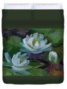 Waterlilies At Martha Lake 2 Duvet Cover