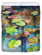 Waterlilies In Shadow Duvet Cover