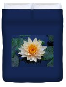 Waterlily After A Shower Duvet Cover