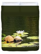 Waterlily And Coconuts Duvet Cover