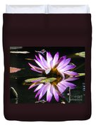Waterlily And Dragonfly Duvet Cover
