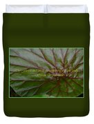 Waterlily Leaf Macro Duvet Cover