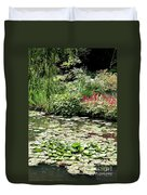 Waterlily Pond Giverney Duvet Cover