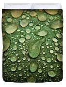 Raindrops On Watermelon Rind Duvet Cover