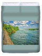 Waters Feeding Niagara Falls Duvet Cover