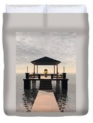 Waterside Gazebo Duvet Cover