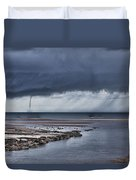 Waterspout Over The Ocean Duvet Cover