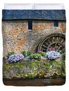 Waterwheel In Brittany Duvet Cover