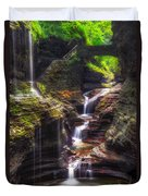 Watkins Glen Rainbow Falls Duvet Cover by Mark Papke